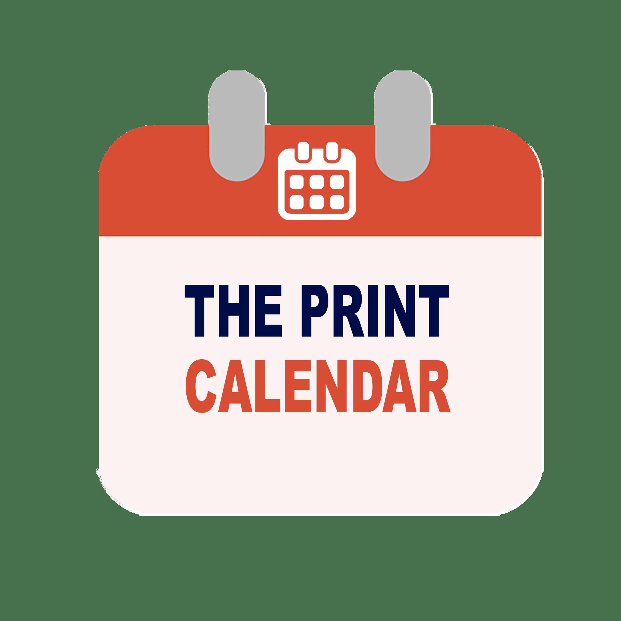 Print the calendar logo